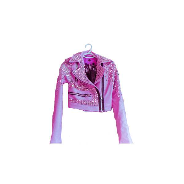 Pink studded jacket
