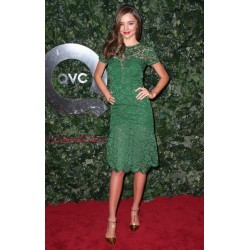 Miranda Kerr Green Lace Formal Prom Dress QVC Red Carpet Style Event