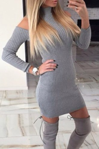 dress grey bold girly