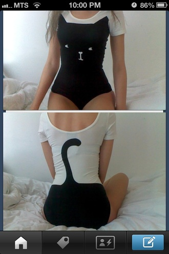 bodysuit cats black white harley davidson sweatshirt tank top whire shirt top body t-shirt black and white women jumper underwear pajamas tail girl girly cute tights blouse swimwear dress hawt cat black white cat face cat tail body one piece tumblr clothes onesie indie meow romper jumpsuit black cat sweater black cat ears cute one piece halloween costume halloween outfit animal leotard cat suit t-shirt with print black and white blouse cat leotard neko kawaii suit style black cat cat jumpsuit cat clothes