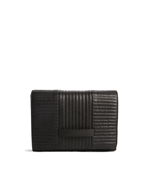 ASOS | ASOS Clutch Bag With Radiator Quilting at ASOS
