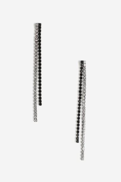 Topshop earrings black jewels