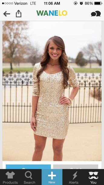 dress gold sequins sleeveless dress