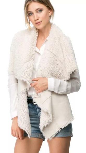 coat white cream suede wool winter coat jacket