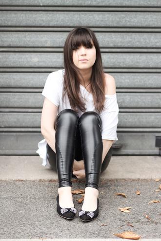 leather leggings black pants betty