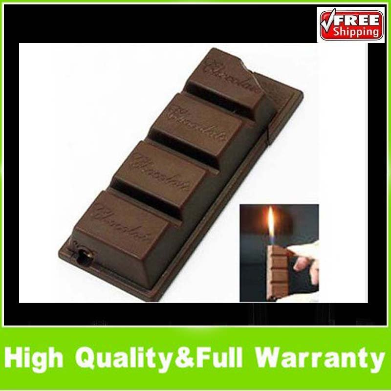 Hot unique chocolate bar shaped butane gas lighter gift chocolate lighter, creative lighter, attractive design,enduring
