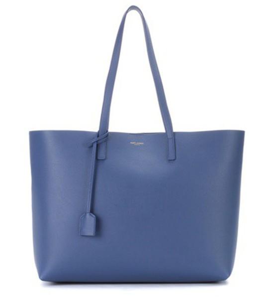 Saint Laurent leather blue bag