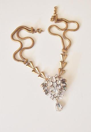 Spikes gems gold statement necklace | holypinkofficial | ASOS Marketplace