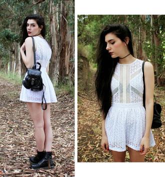 dress white dress summer dress fabulous stylemoi pretty cute streetstyle