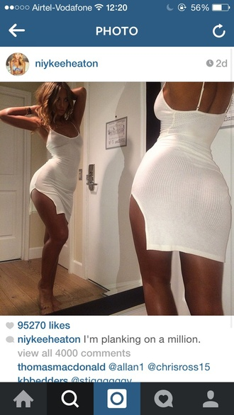 dress white dress niykee heaton