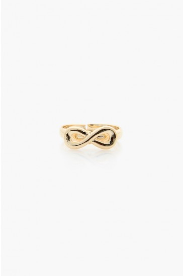 LoveMelrose.com From Harry & Molly | Infinity Ring - Gold