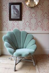 make-up,mermaid,home accessory,home decor,armchair,vintage decor,shell