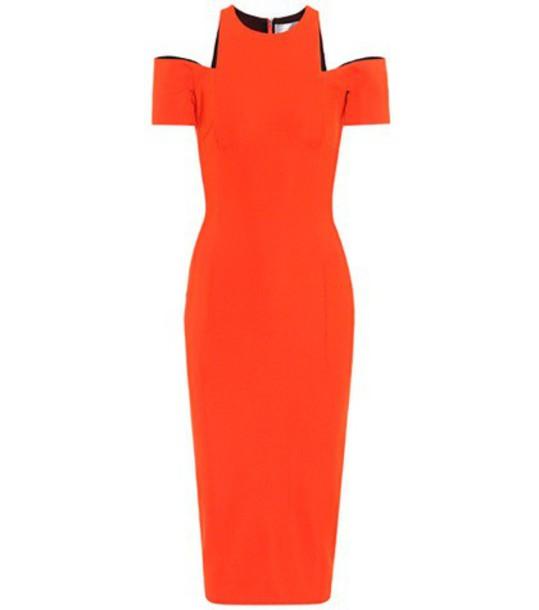 Victoria Beckham dress bodycon bodycon dress orange