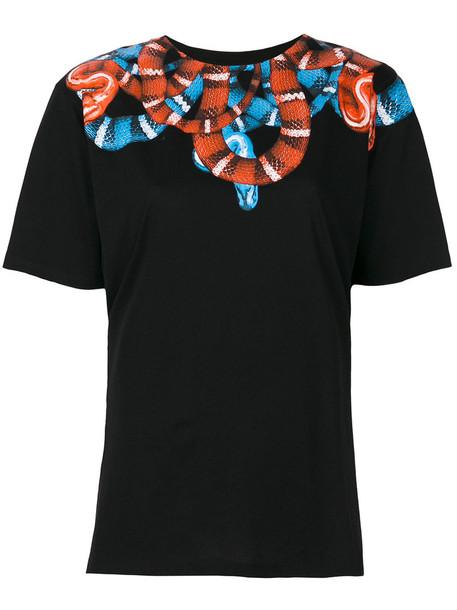 Marcelo Burlon County Of Milan - Bannek T-shirt - women - Cotton - XL, Black, Cotton