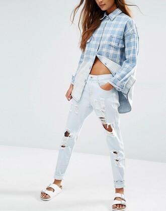 jeans denim asos distressed denim ripped jeans boyfriend jeans
