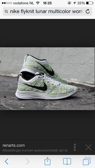 shoes nike flyknit lunar multicolor