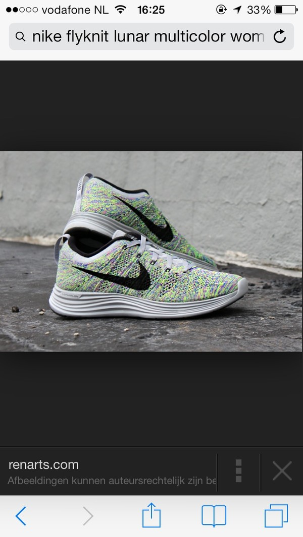 shoes nike flyknit lunar multicolor