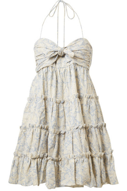 Zimmermann dress mini dress mini light cotton blue light blue