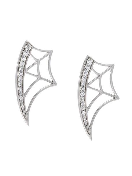 Gisele For Eshvi women earrings gold grey metallic jewels