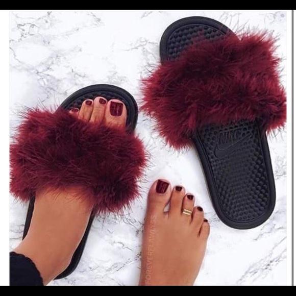 custom nike slides womens