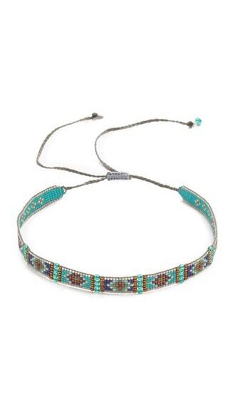 necklace choker necklace blue jewels