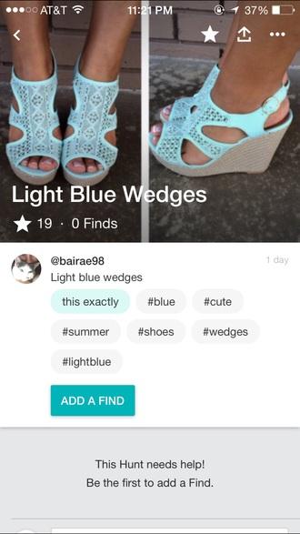 shoes wedges blue wedges summer blue summer wedges helpmefindthis