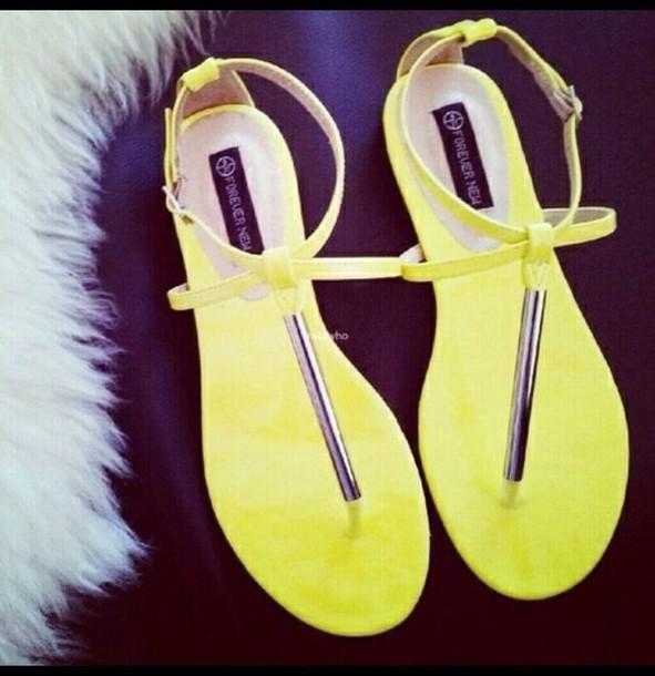 shoes neon sandals