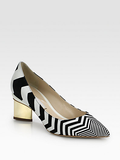 Nicholas Kirkwood - Zig Zag Leather & Suede Pumps - Saks.com