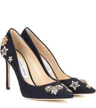 embellished 100 pumps blue shoes