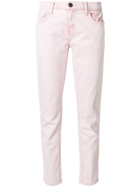Current/Elliott jeans cropped women spandex cotton purple pink