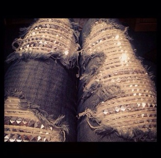 jeans spike studs bling pants cool swag style