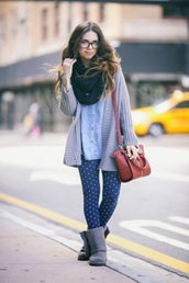nany's klozet,shoes,pants,t-shirt,bag,scarf,jewels,sweater,leggings,heart leggings,warm leggings,blue,heart print,polka dots