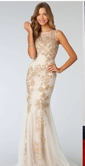 gold dress gold sequins prom dress long prom dresses
