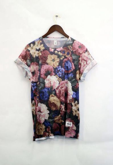 brown t-shirt flowers print t-shirt t-shirt dress baggy tshirt loose tshirt oversized tshirt tshirt dress floral floral t shirt cute dress tumblr shirt floral cute sleeves exact