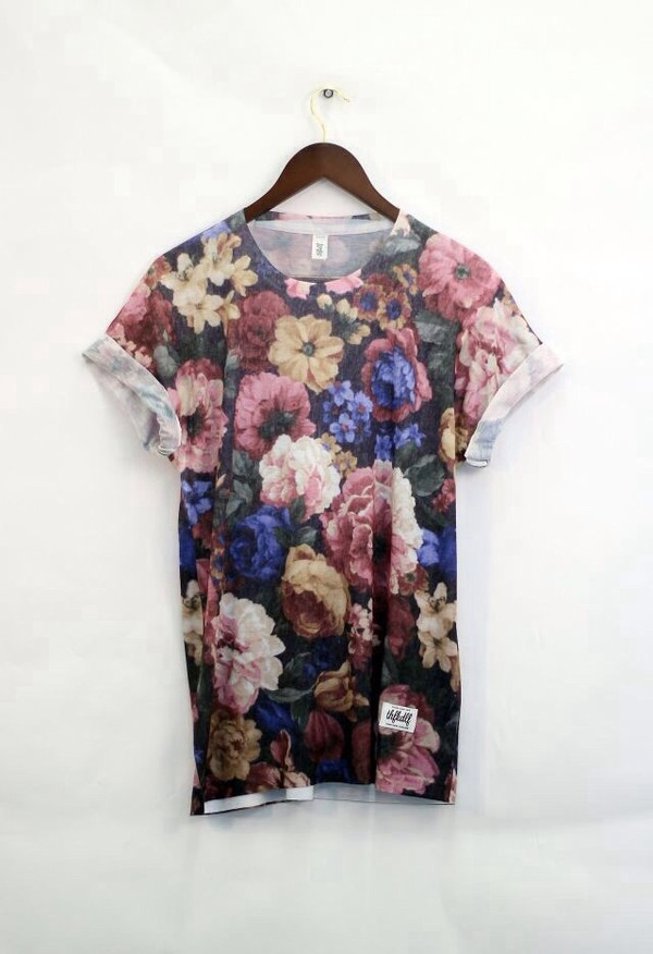 t-shirt dress oversized t-shirt t-shirt loose tshirt oversized t-shirt t-shirt dress floral floral t shirt cute dress tumblr shirt flowers cute sleeves exact brown t-shirt floral
