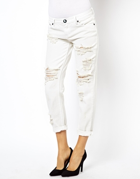 One Teaspoon | One Teaspoon Awesome Baggies Jeans in Worn White at ASOS
