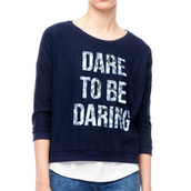 sweatshirt,top,navy,dare shirt,cotton shirt