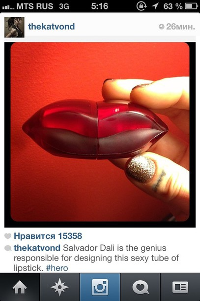 jewels red salvador dali lips lipstick
