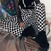 pants,tumblr,checkered,checkered pants