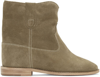 boots ankle boots taupe shoes