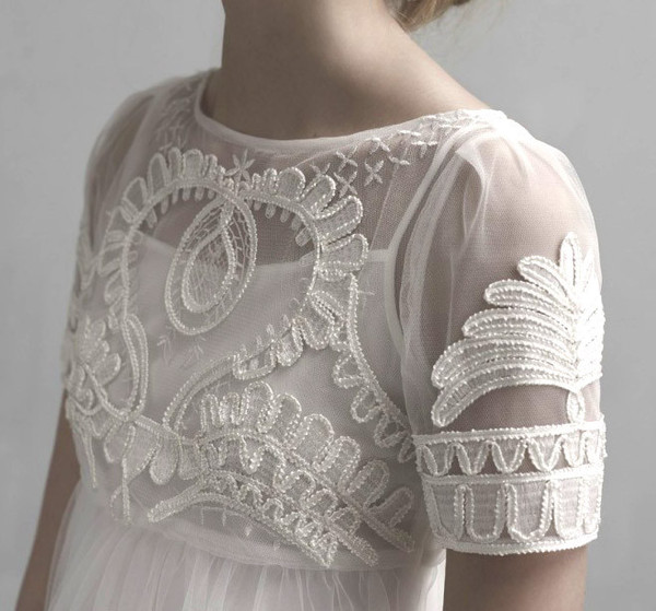 Celestial Embroidery Chiffon Dress – Flydoll