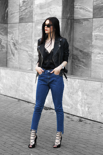 holy nights blogger top jacket jeans