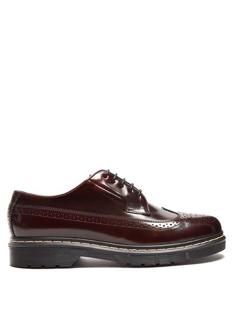 Joseph leather burgundy shoes