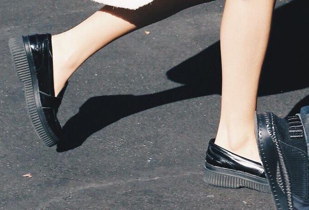 shoes black goth selena gomez