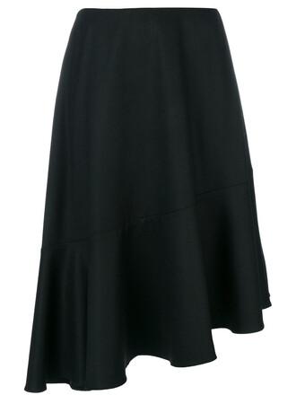 skirt women black silk wool
