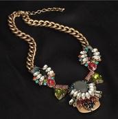 jewels,statement necklace,antique,shourouk