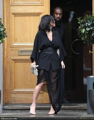 dress black kim kardashian
