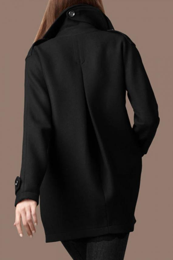 Down collar long sleeve double