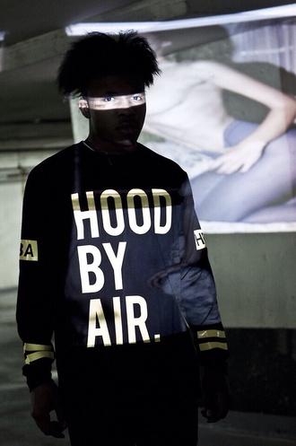 sweater hood by air hoodbyair vest menswear zip blvck