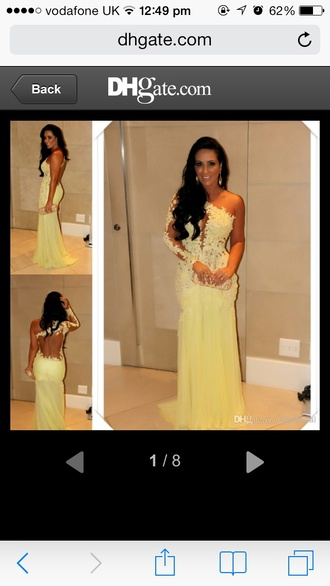 dress long sleeve dress tulle dress sheath dresses prom gown backless plunge v neck
